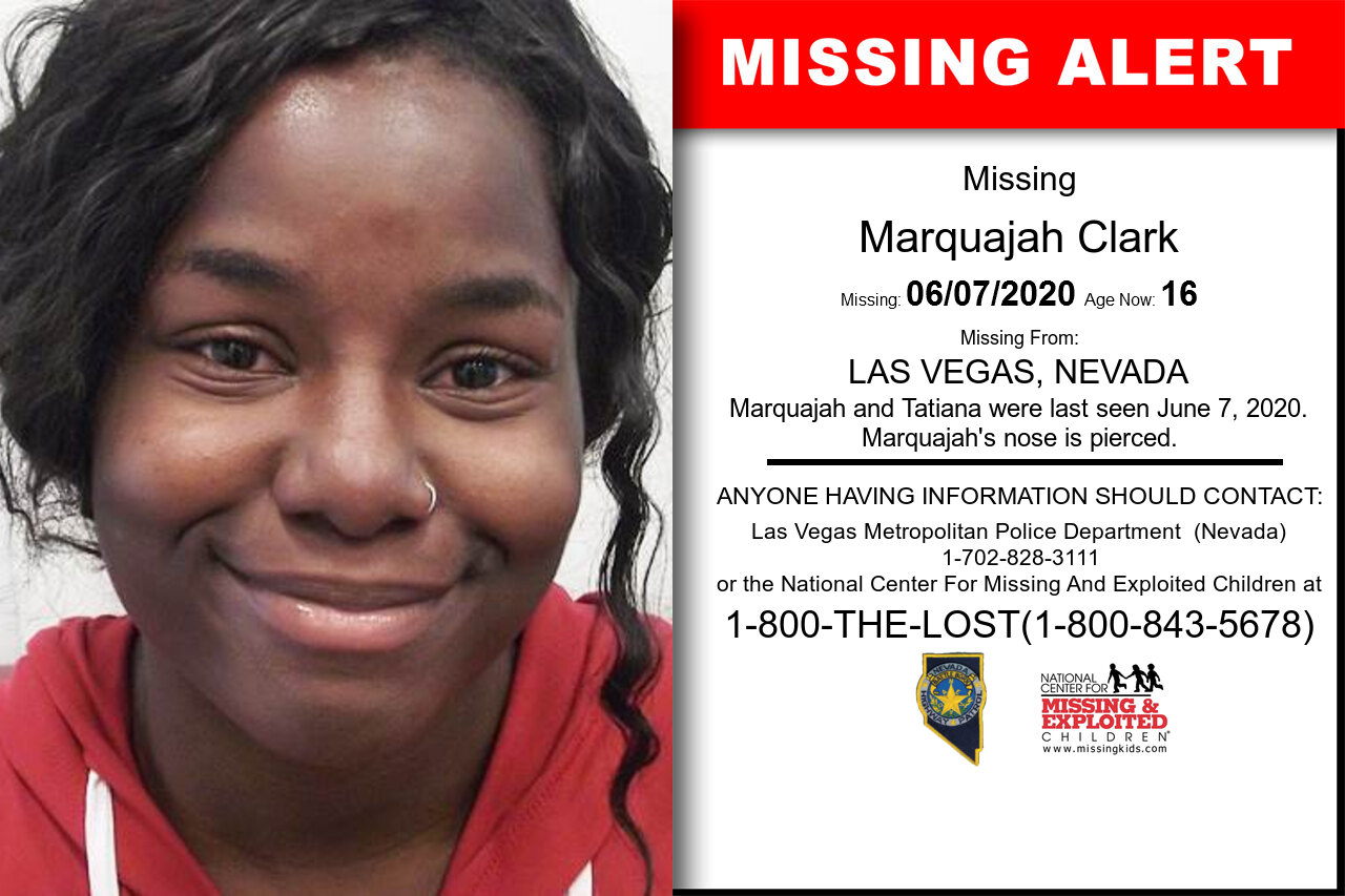MARQUAJAH_CLARK missing in Nevada