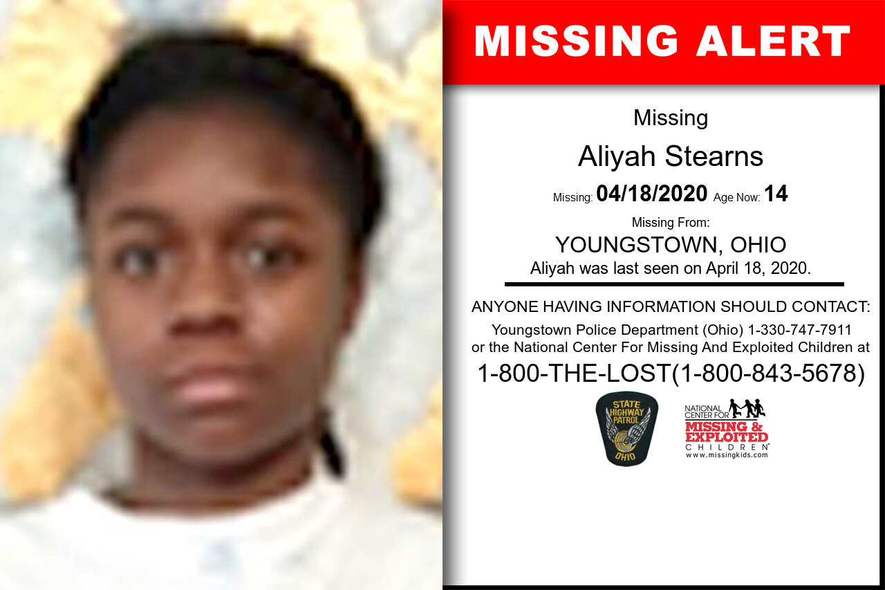 Aliyah_Stearns missing in Ohio
