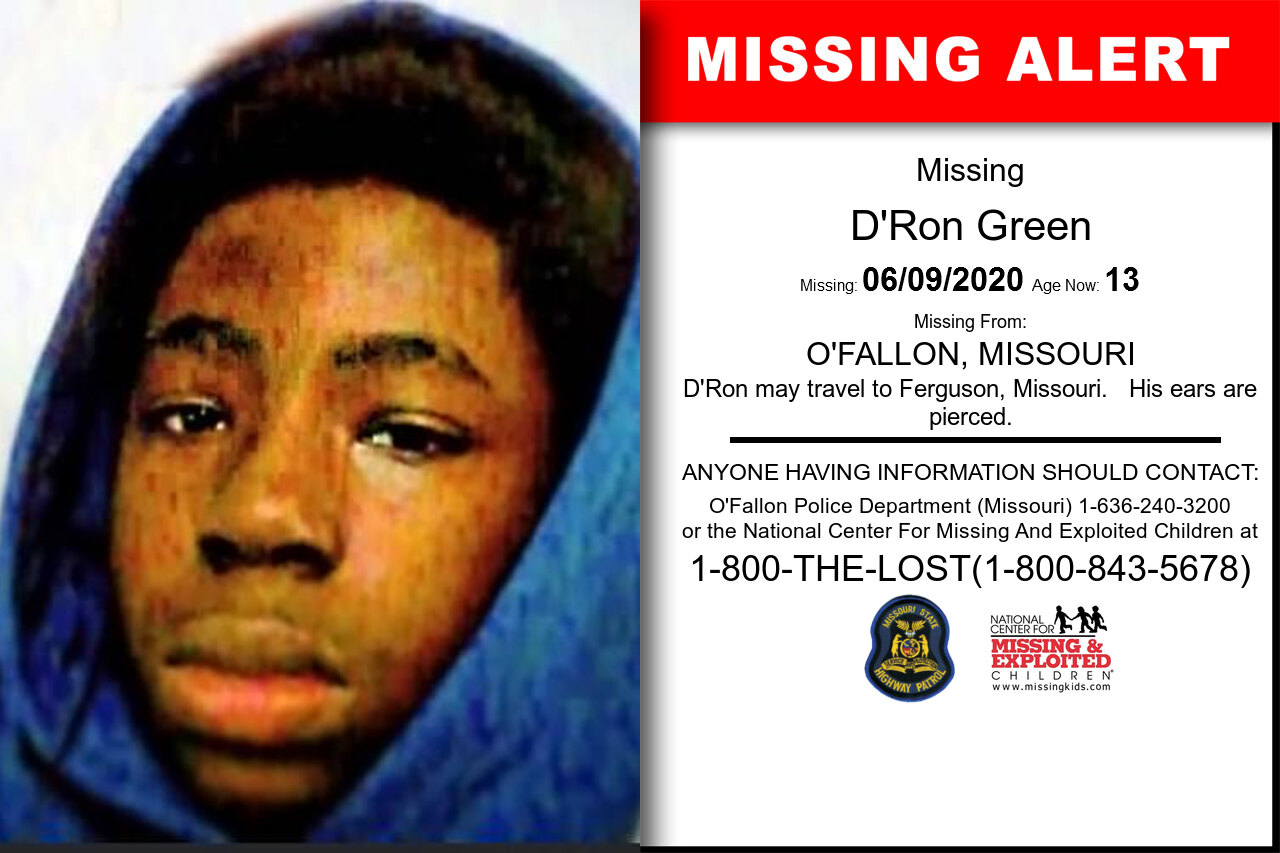 D'Ron_Green missing in Missouri