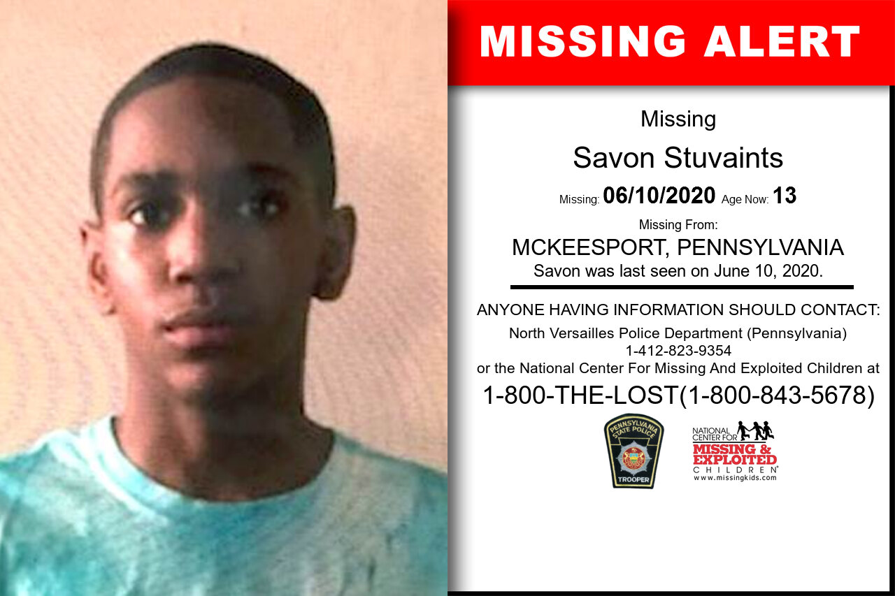 Savon_Stuvaints missing in Pennsylvania