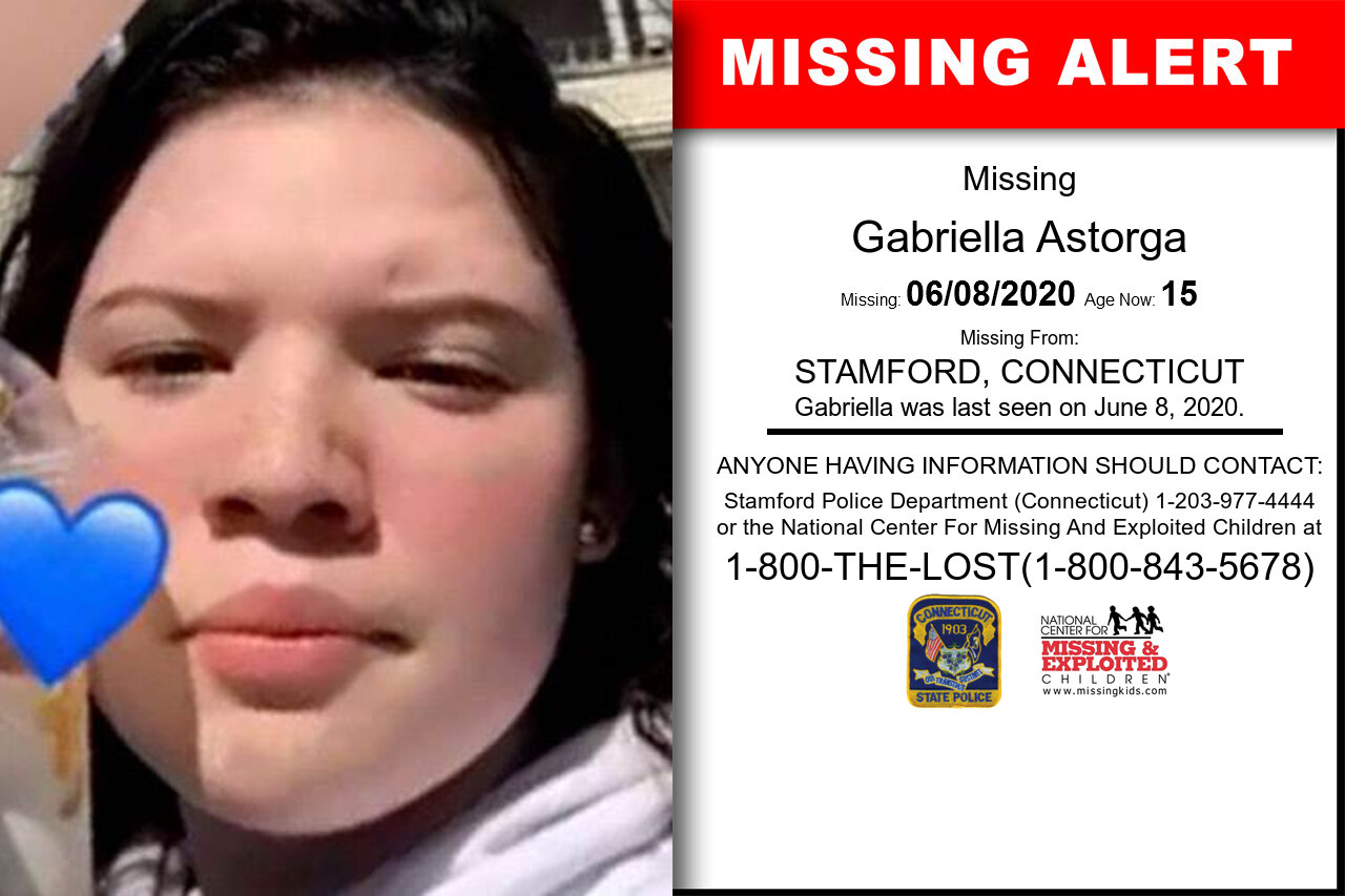 Gabriella_Astorga missing in Connecticut