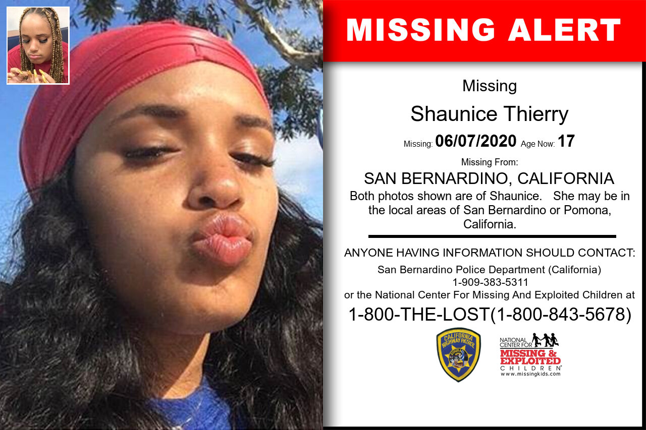 Shaunice_Thierry missing in California