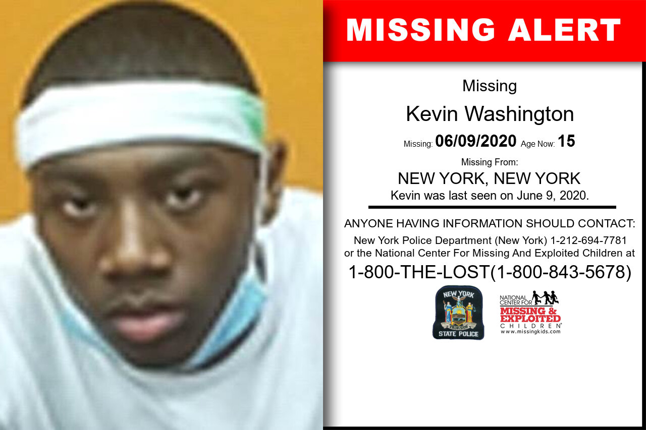 Kevin_Washington missing in New_York