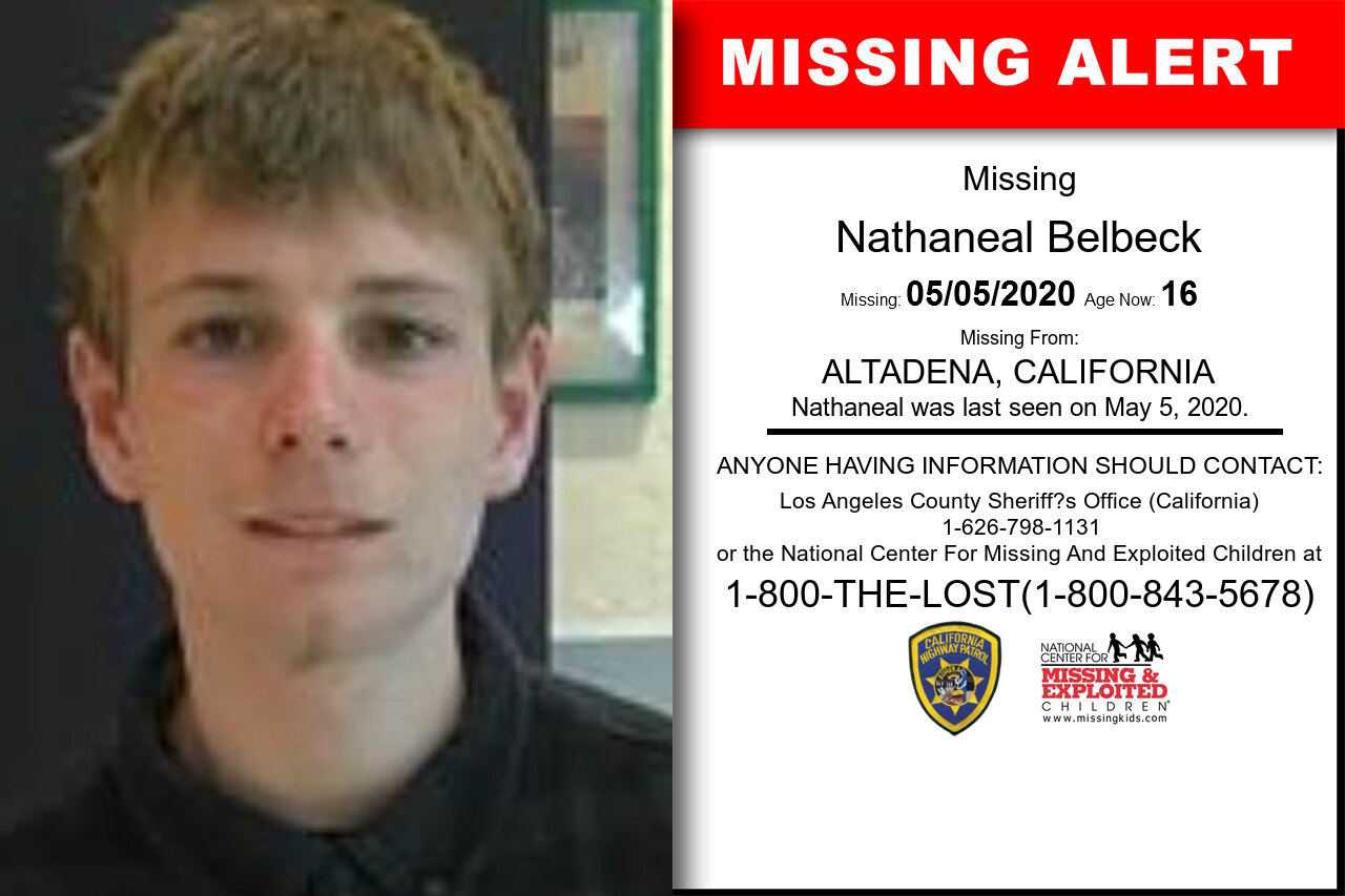 Nathaneal_Belbeck missing in California