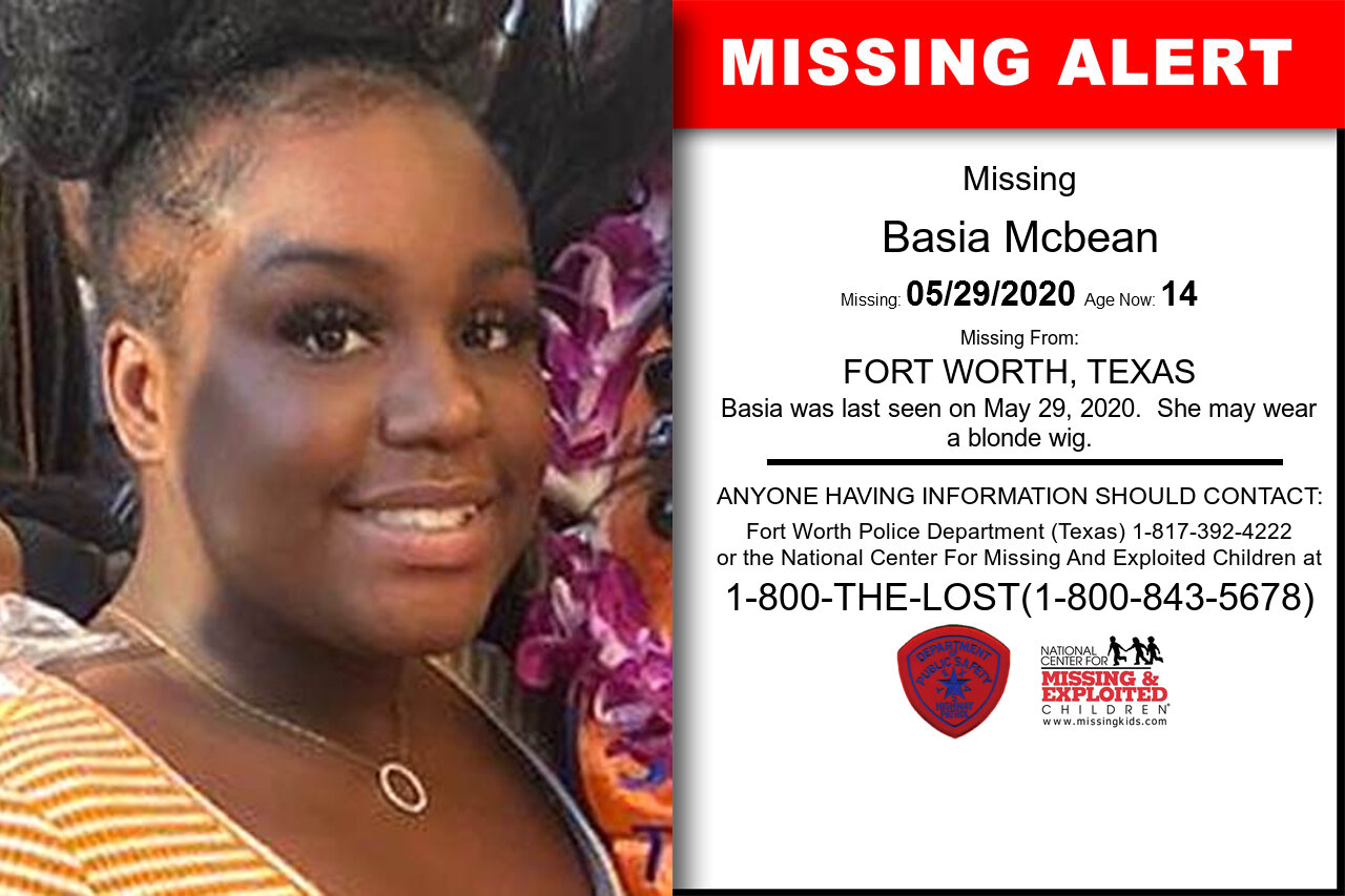 Basia_Mcbean missing in Texas