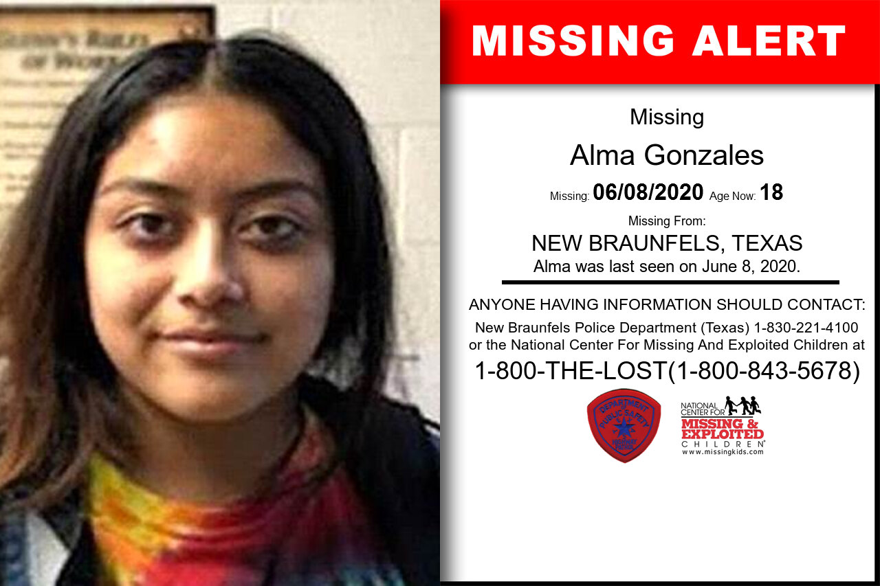 Alma_Gonzales missing in Texas