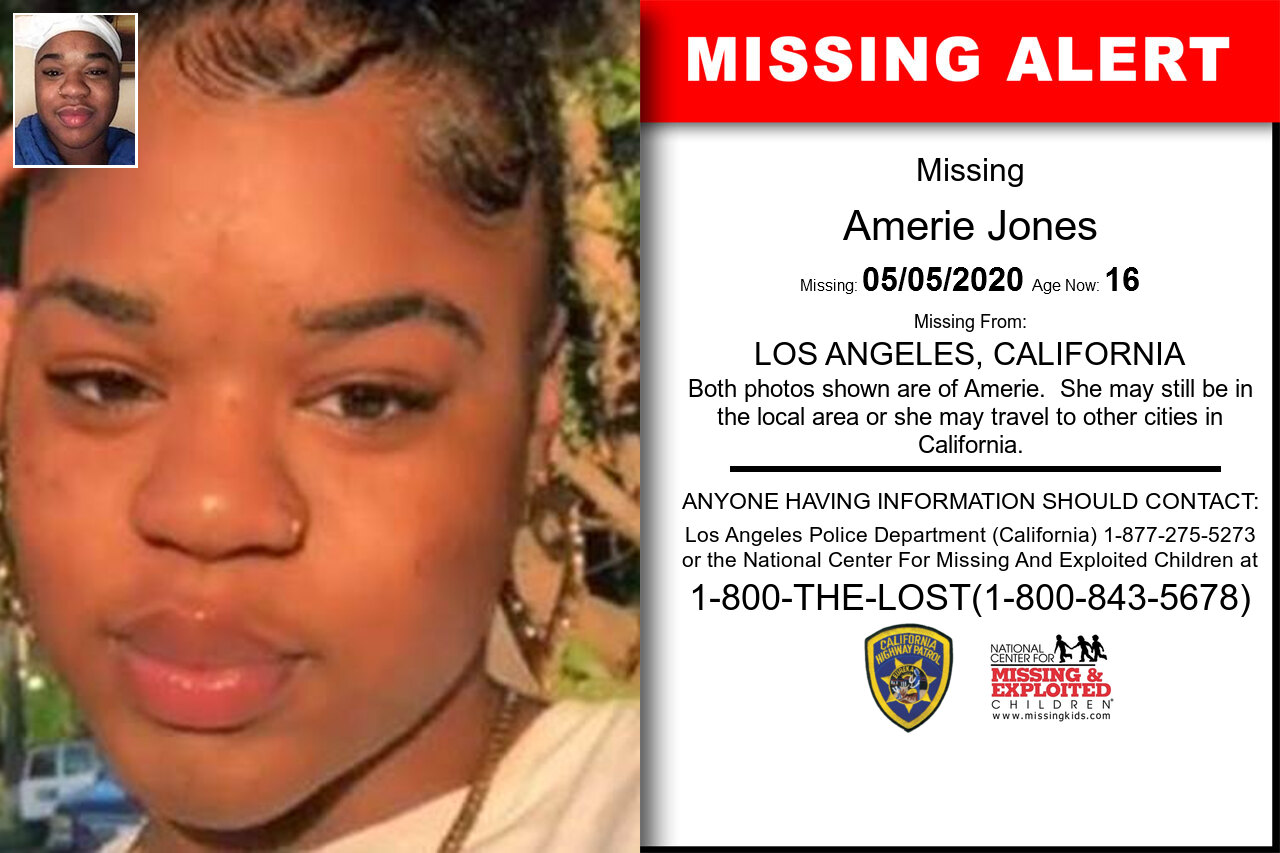 Amerie_Jones missing in California