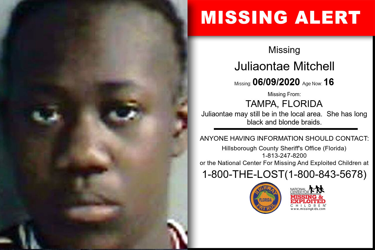Juliaontae_Mitchell missing in Florida