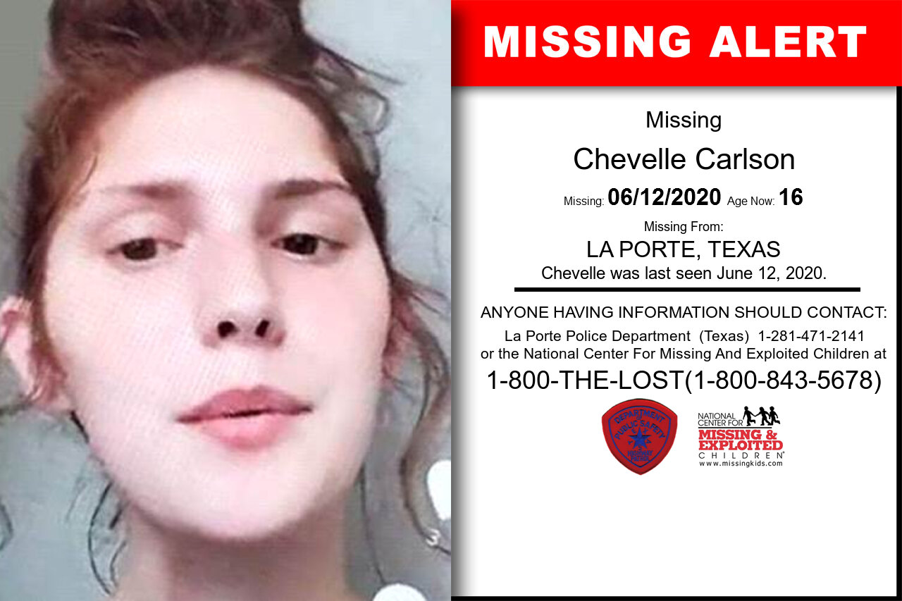 Chevelle_Carlson missing in Texas
