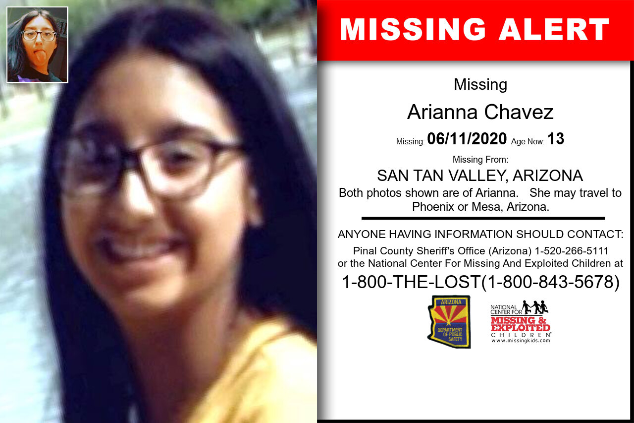 Arianna_Chavez missing in Arizona