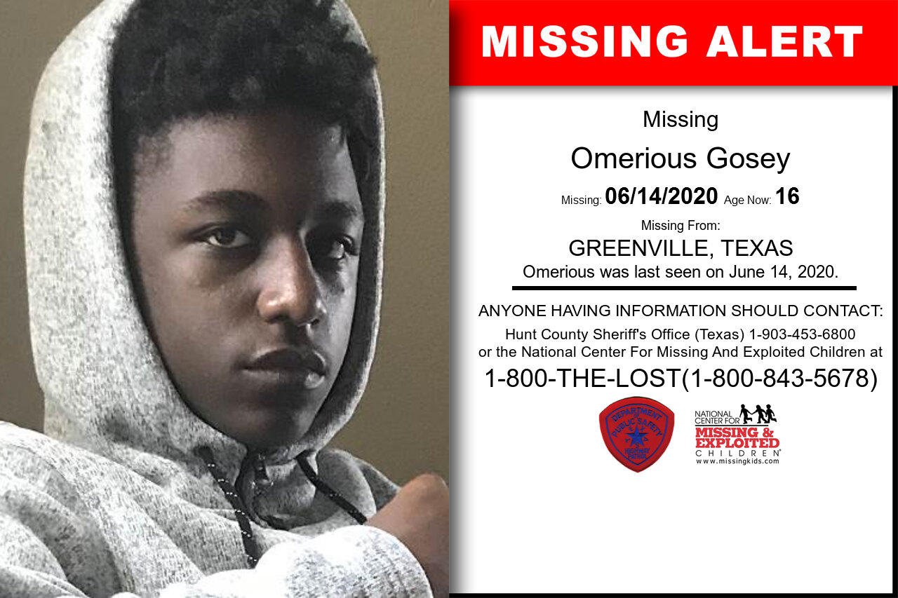 Omerious_Gosey missing in Texas