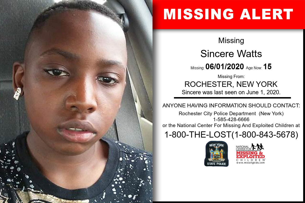 Sincere_Watts missing in New_York