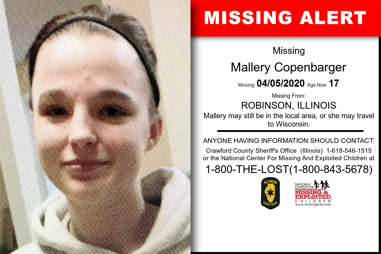 Mallery_Copenbarger missing in Illinois