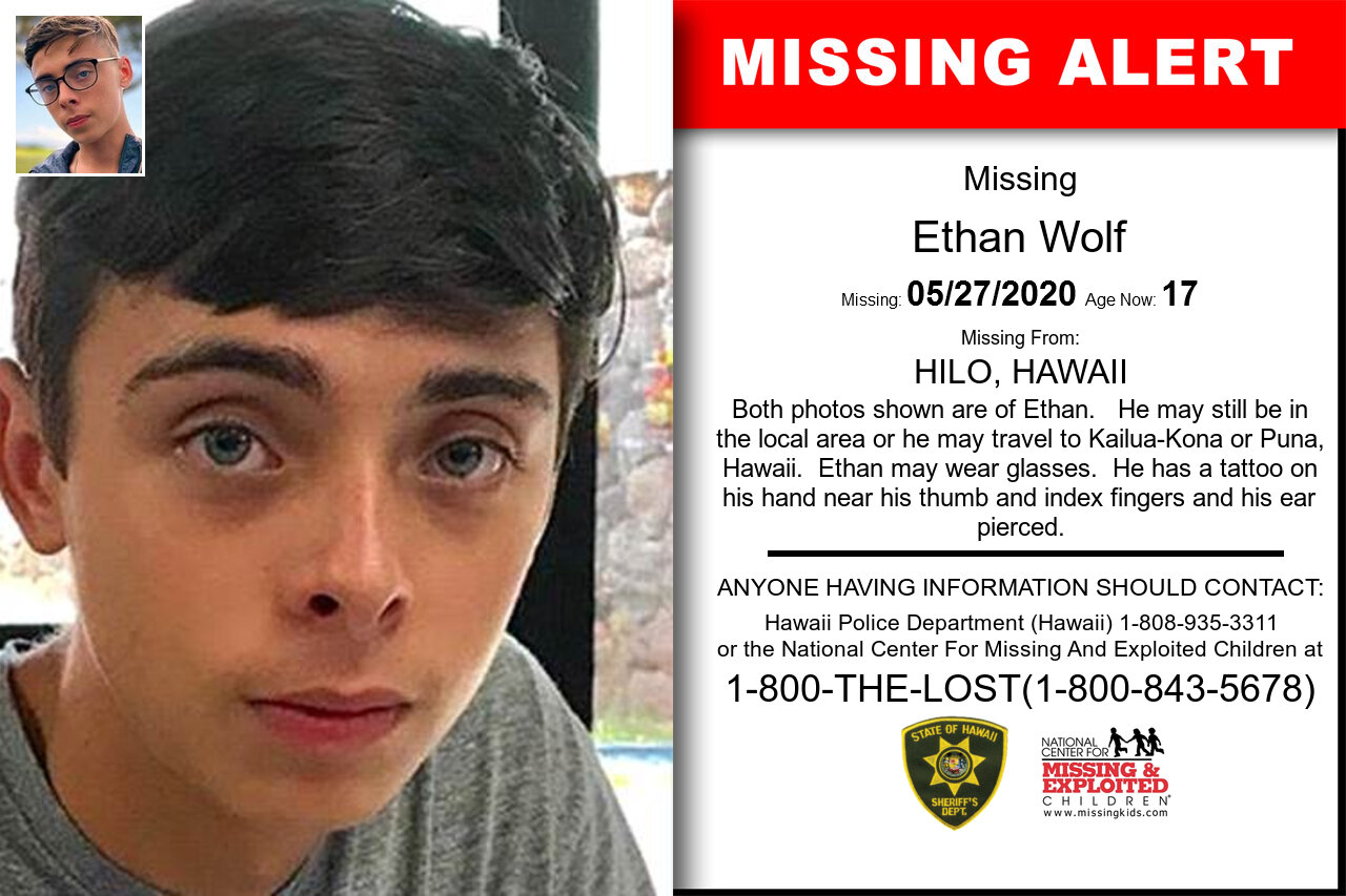 Ethan_Wolf missing in Hawaii