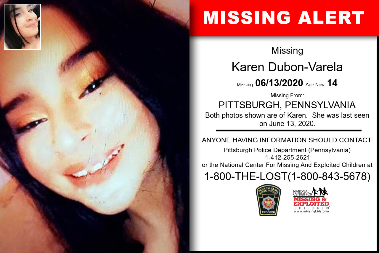 Karen_Dubon-Varela missing in Pennsylvania