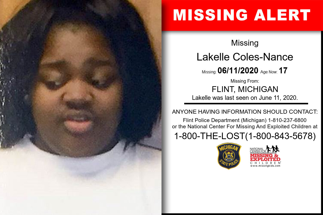 Lakelle_Coles-Nance missing in Michigan