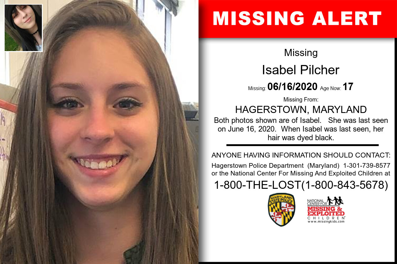 Isabel_Pilcher missing in Maryland