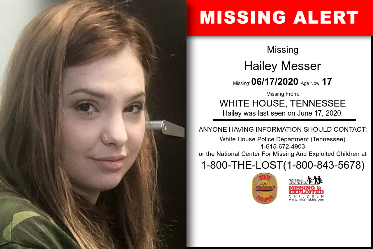 Hailey_Messer missing in Tennessee