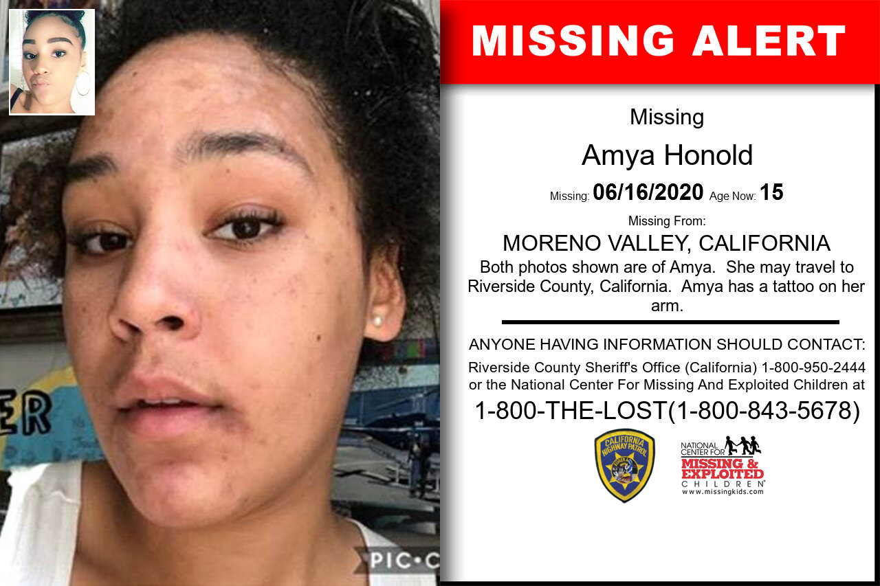 AMYA_HONOLD missing in California