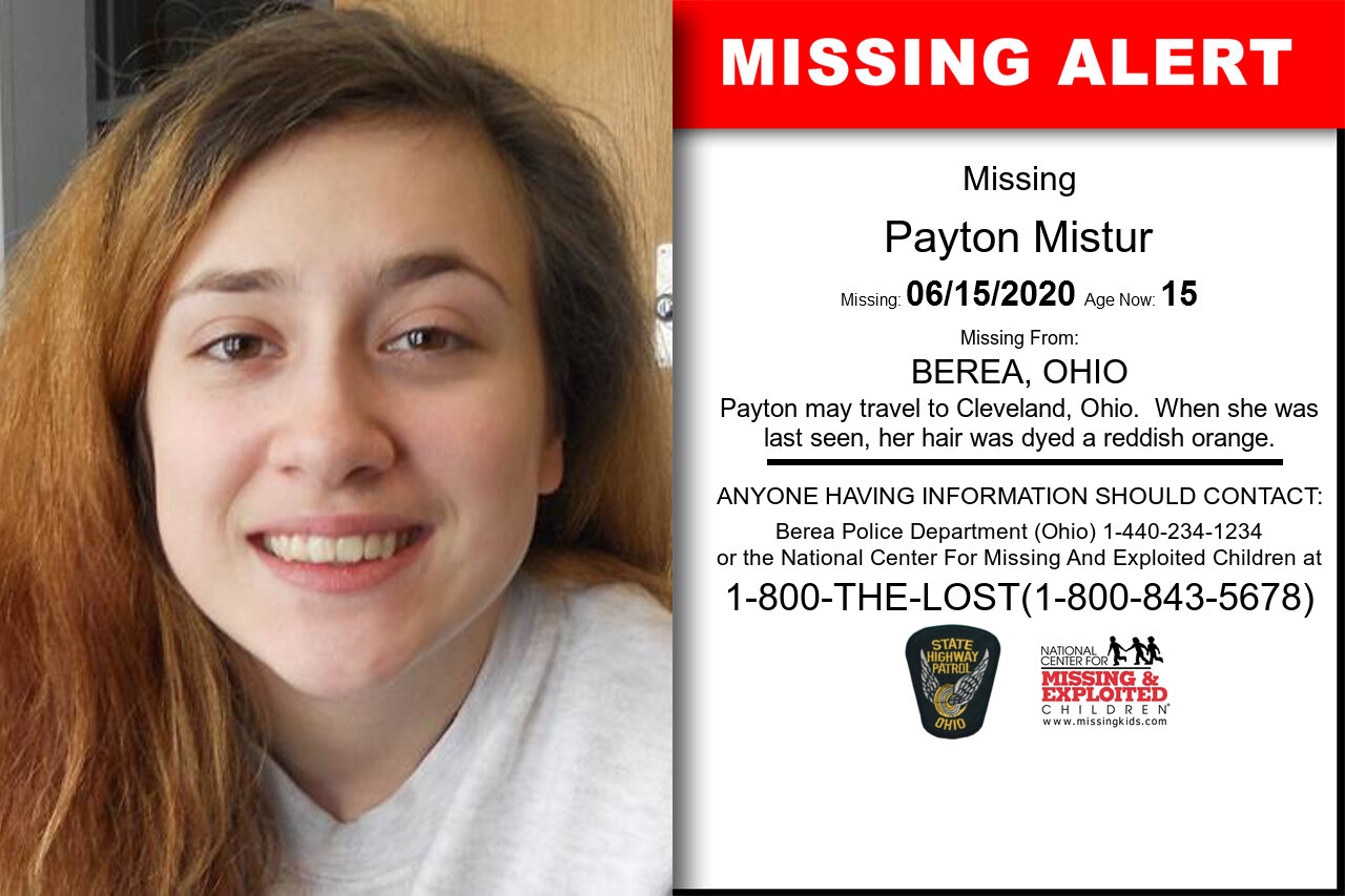 Payton_Mistur missing in Ohio