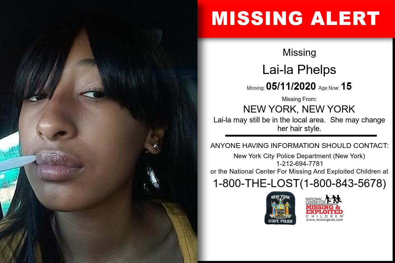 Lai-la_Phelps missing in New_York