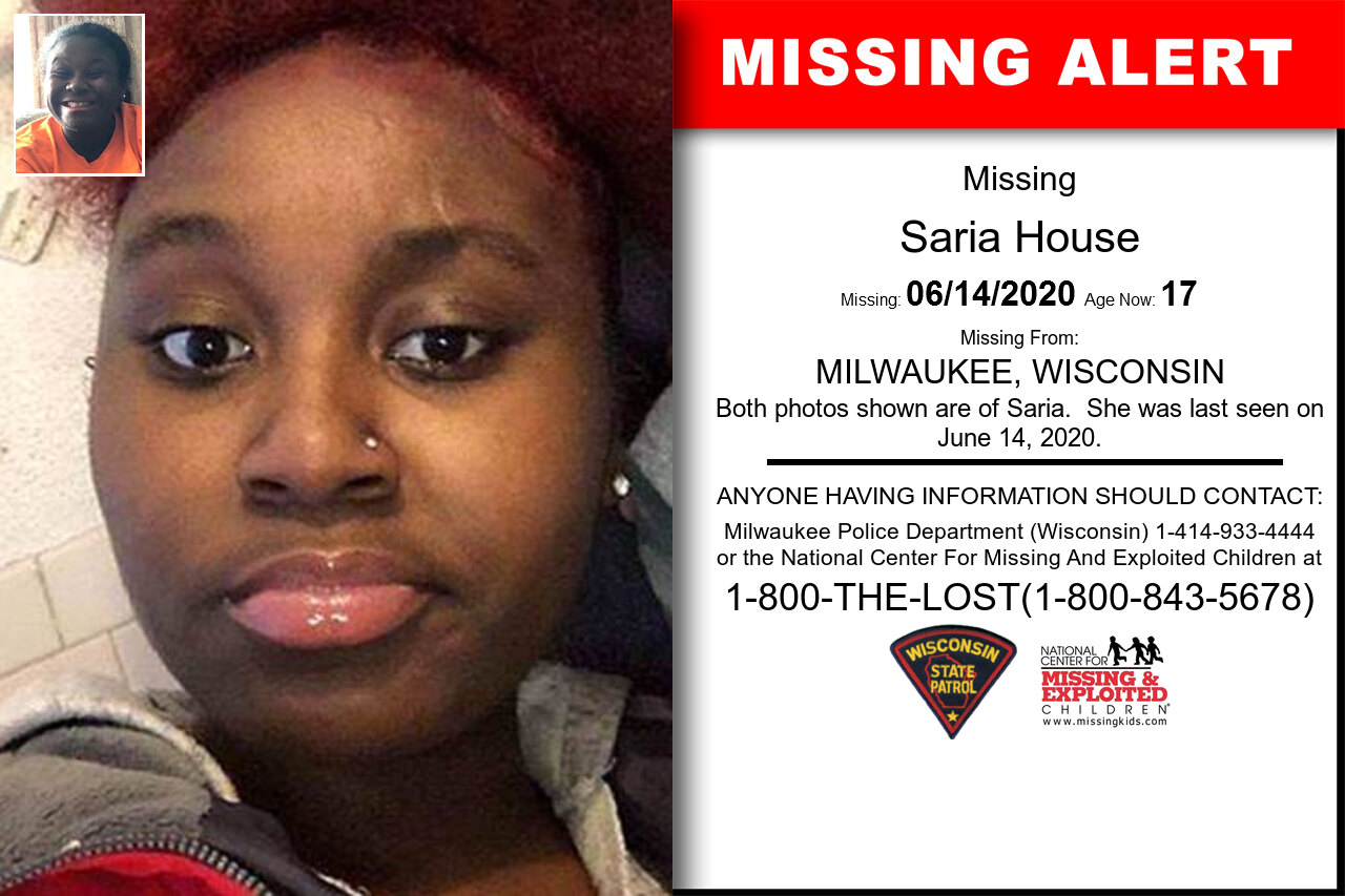 Saria_House missing in Wisconsin
