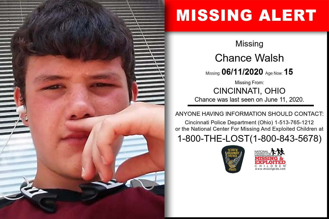 Chance_Walsh missing in Ohio