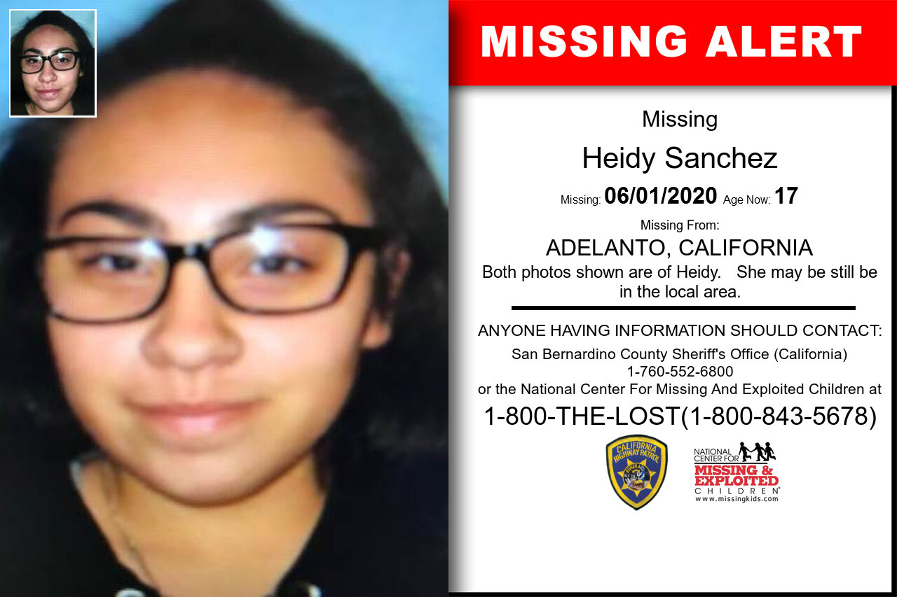 Heidy_Sanchez missing in California