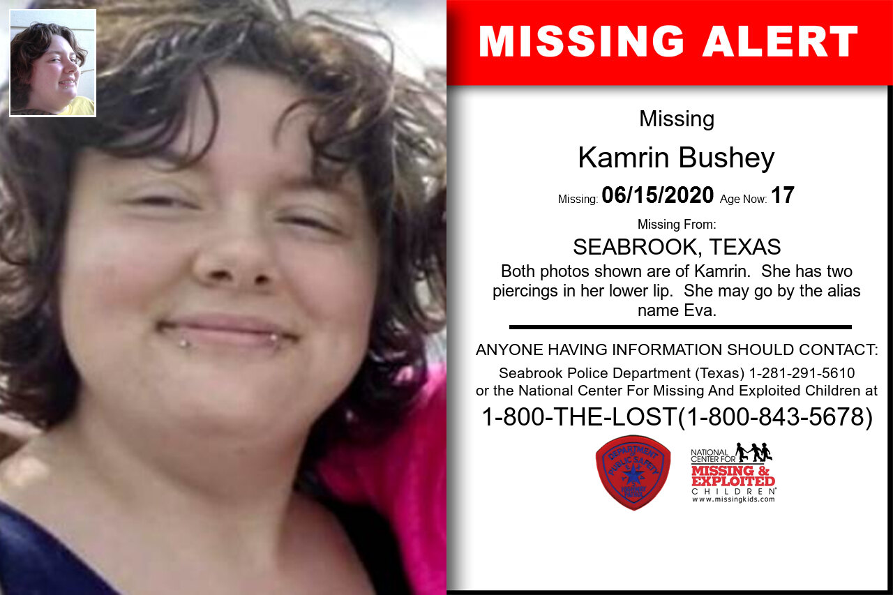 Kamrin_Bushey missing in Texas