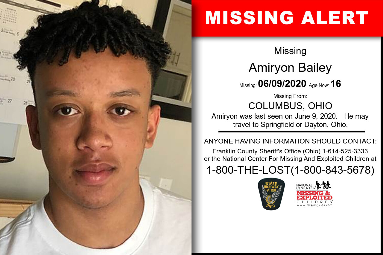 Amiryon_Bailey missing in Ohio