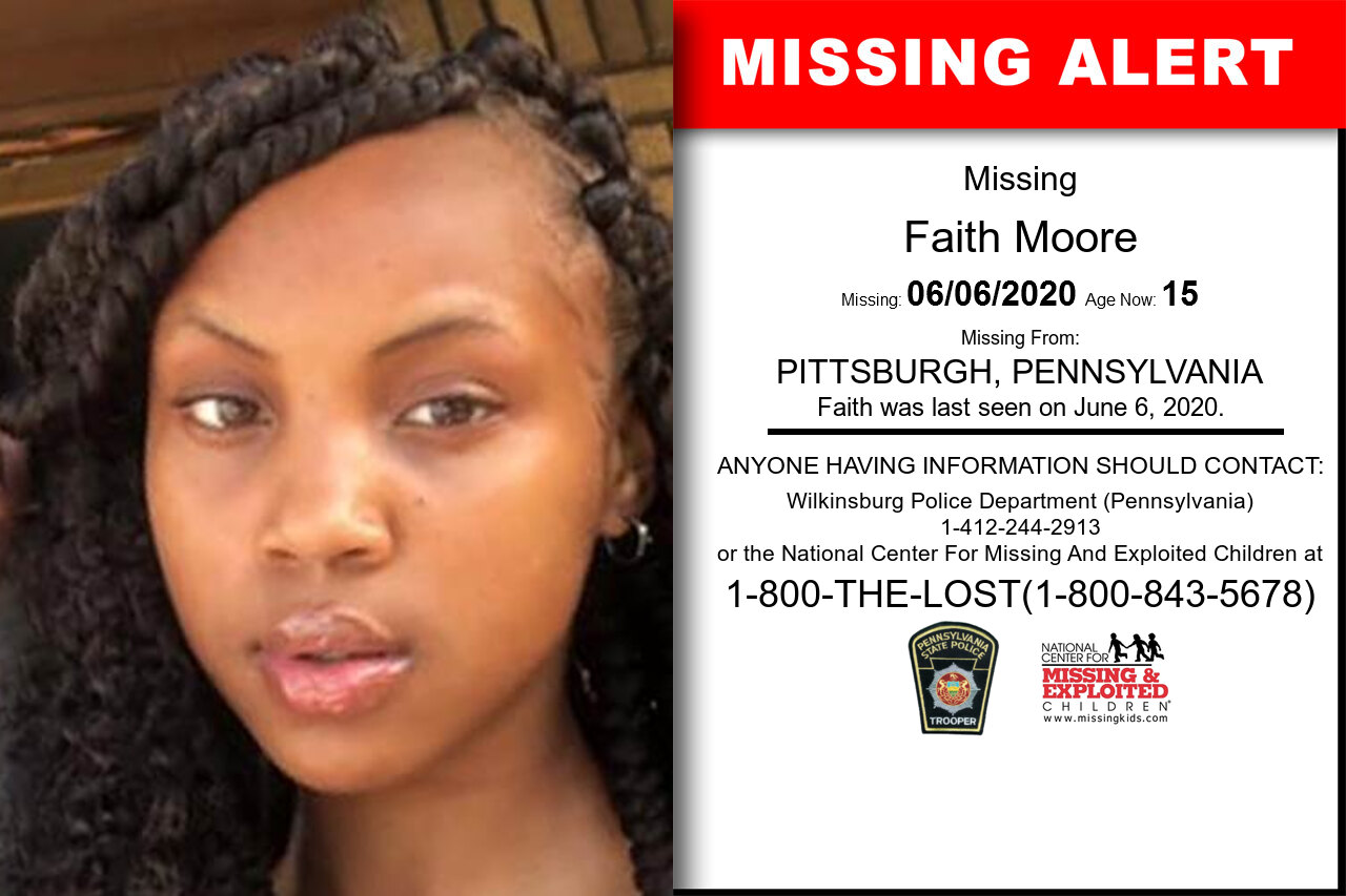 Faith_Moore missing in Pennsylvania
