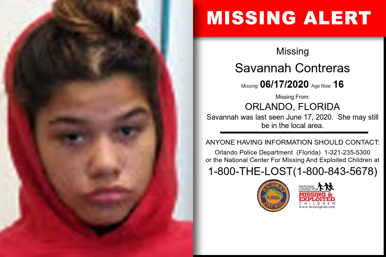 Savannah_Contreras missing in Florida