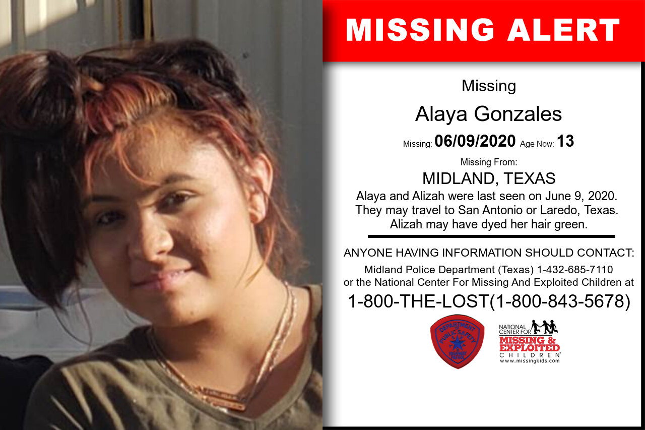 Alizah_Gonzales missing in Texas