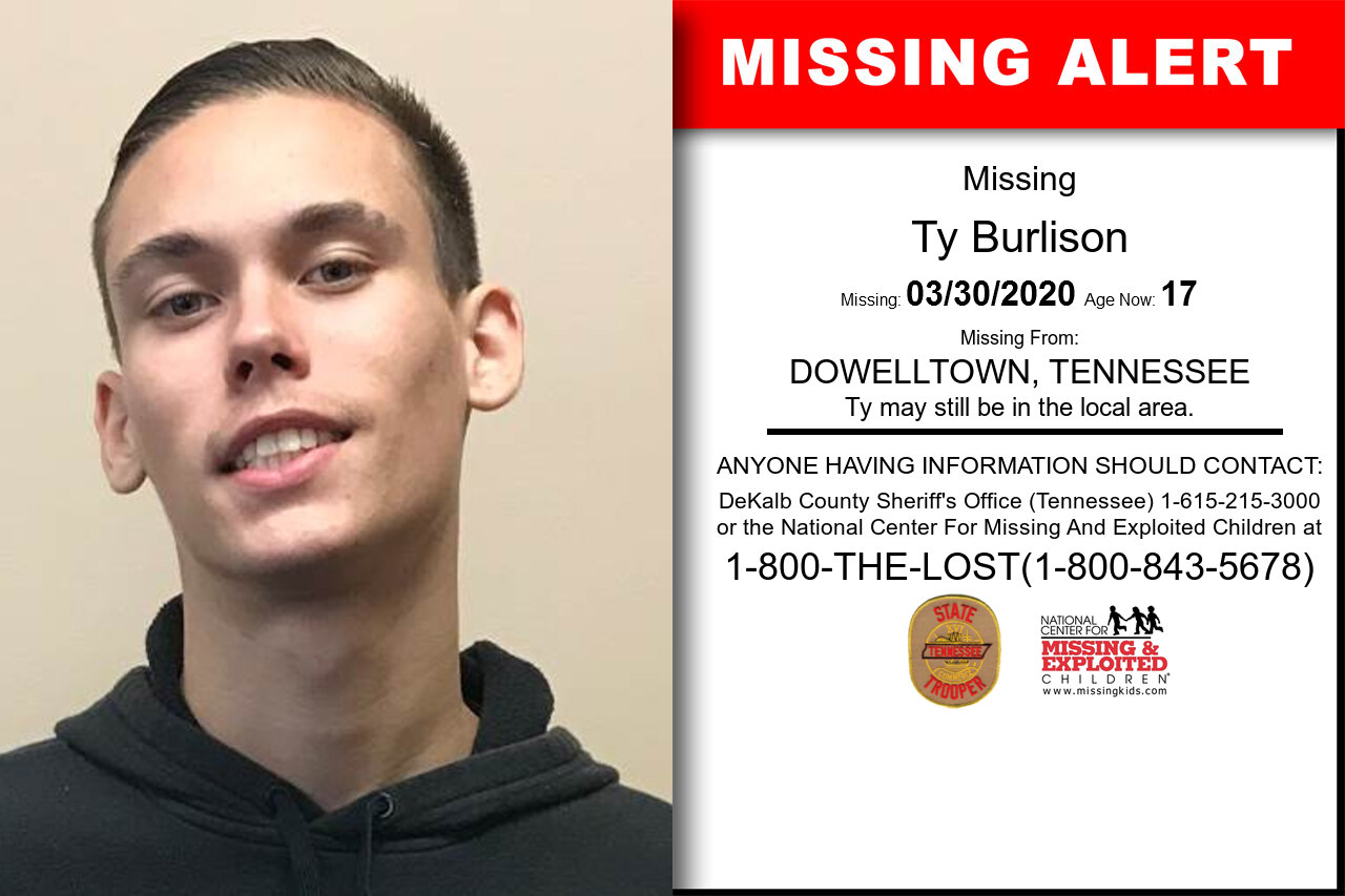 Ty_Burlison missing in Tennessee