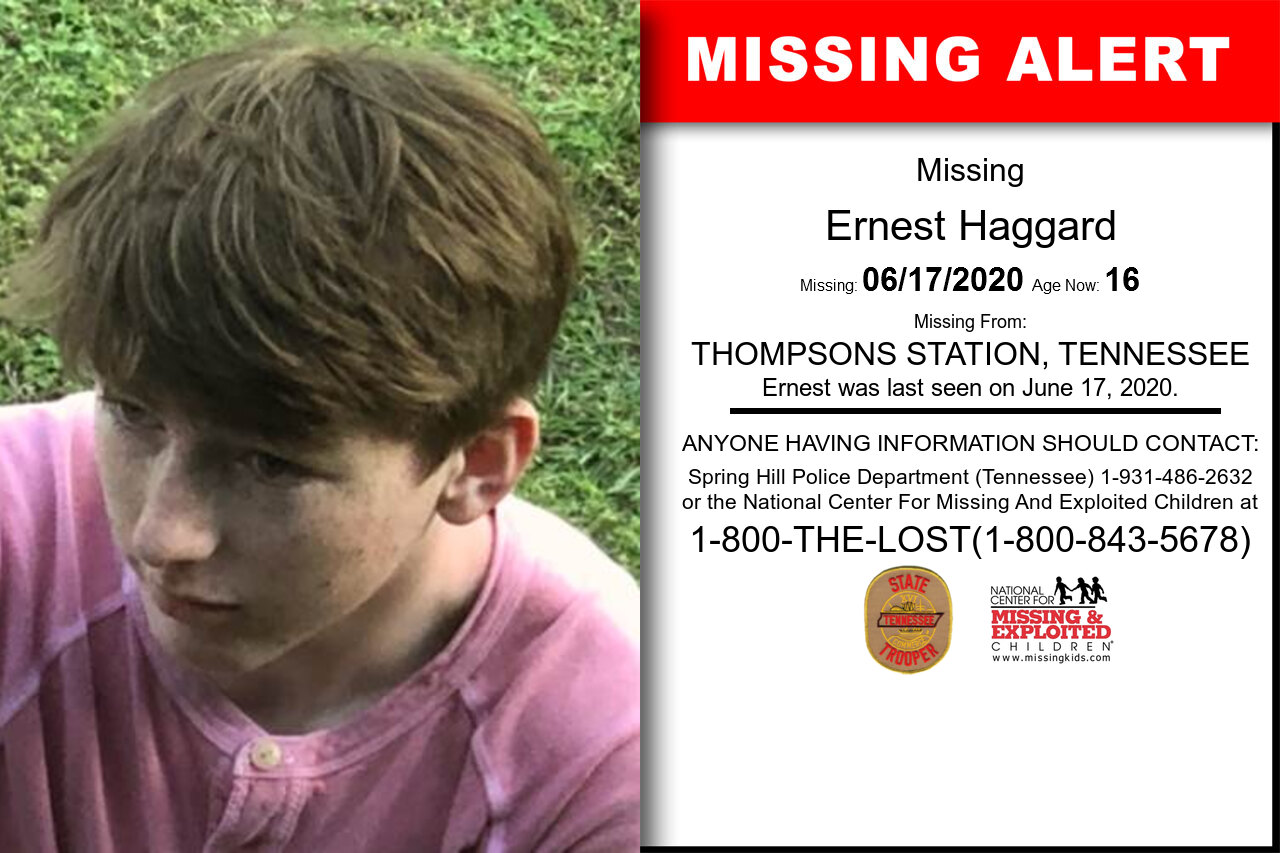 Ernest_Haggard missing in Tennessee