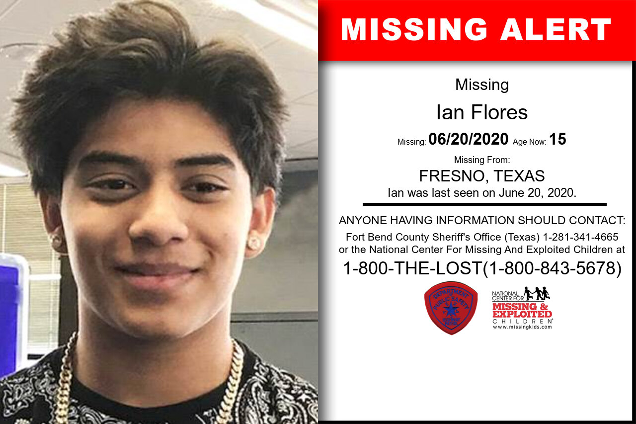 Ian_Flores missing in Texas