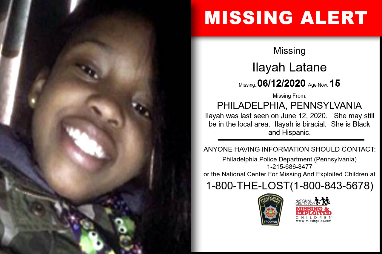 Ilayah_Latane missing in Pennsylvania