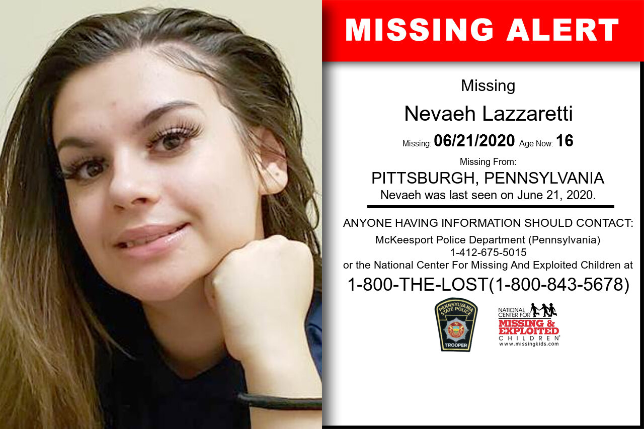 Nevaeh_Lazzaretti missing in Pennsylvania