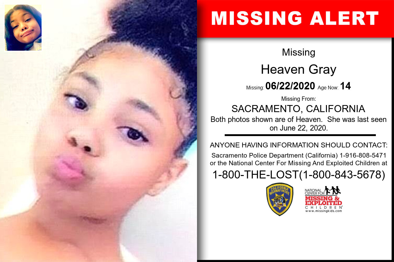 Heaven_Gray missing in California