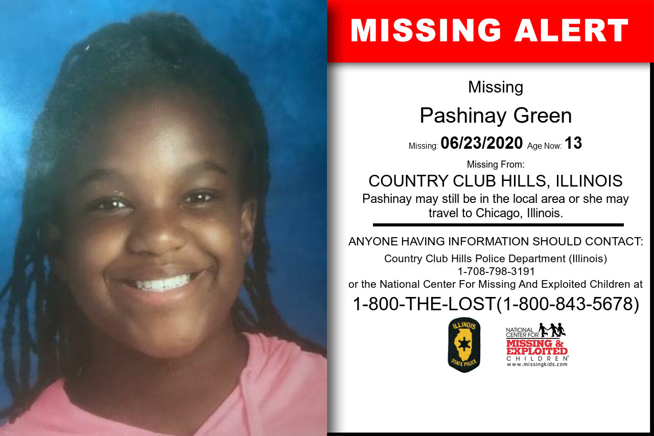 Pashinay_Green missing in Illinois