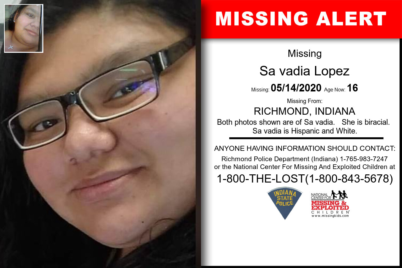 Reina_Lopez missing in Indiana