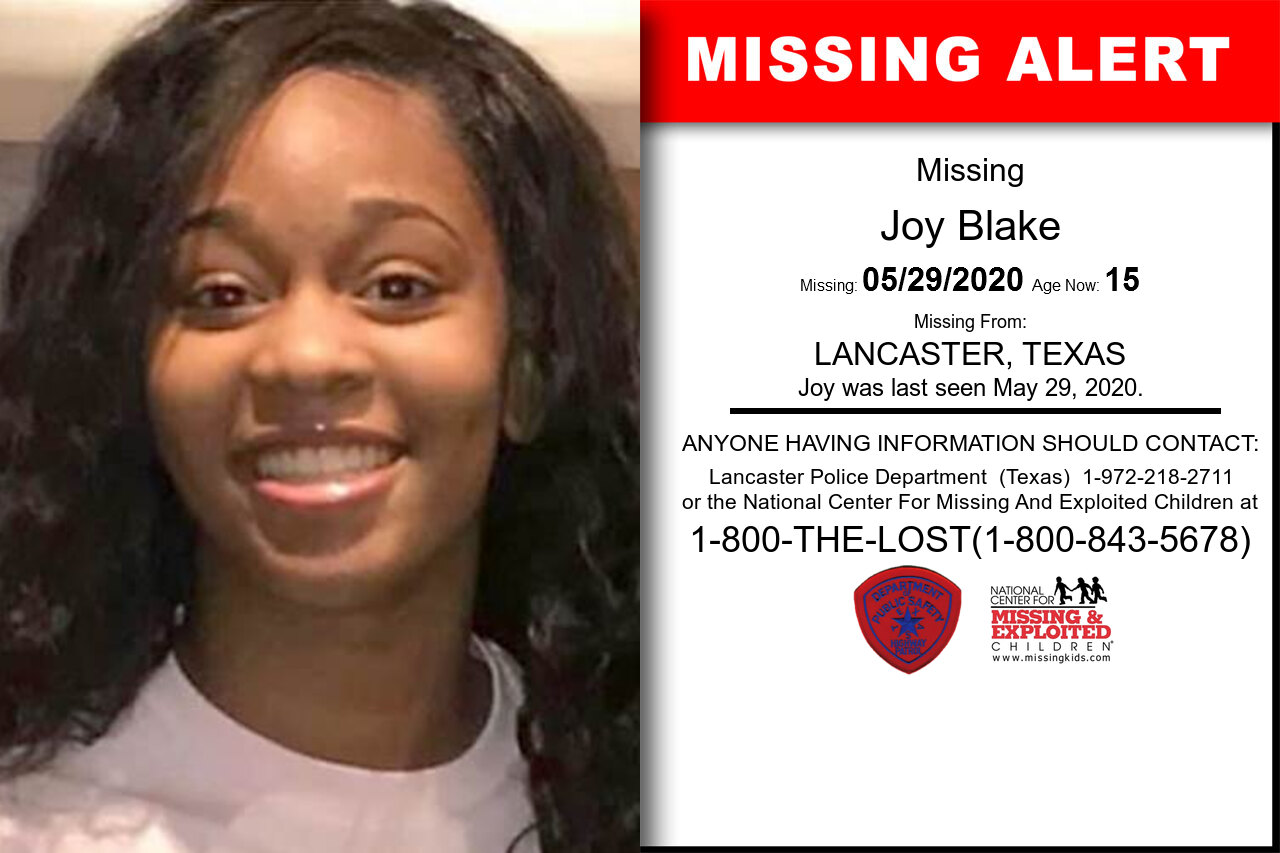 Joy_Blake missing in Texas