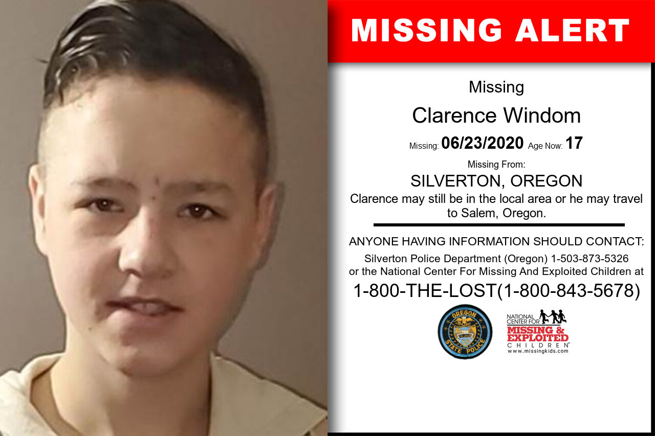 Clarence_Windom missing in Oregon