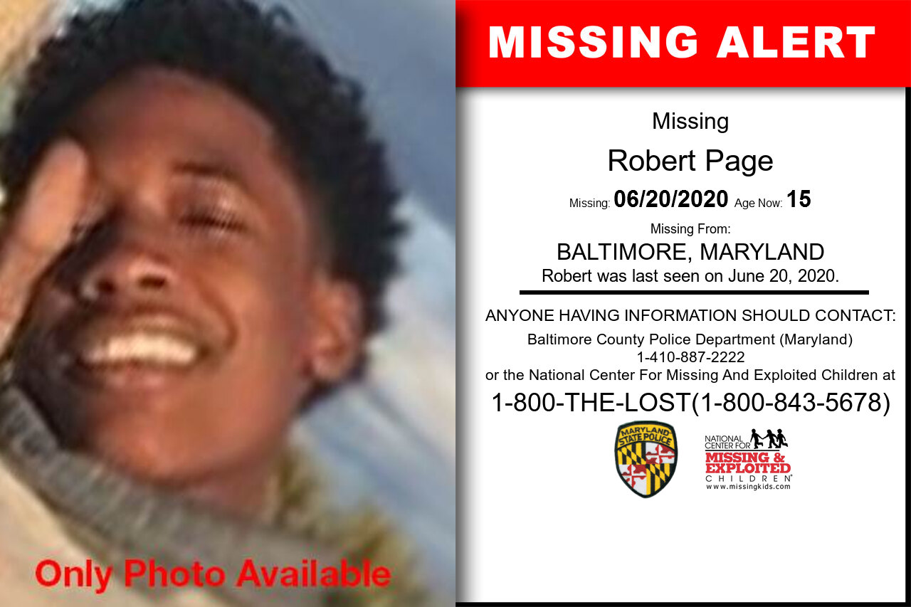 Robert_Page missing in Maryland