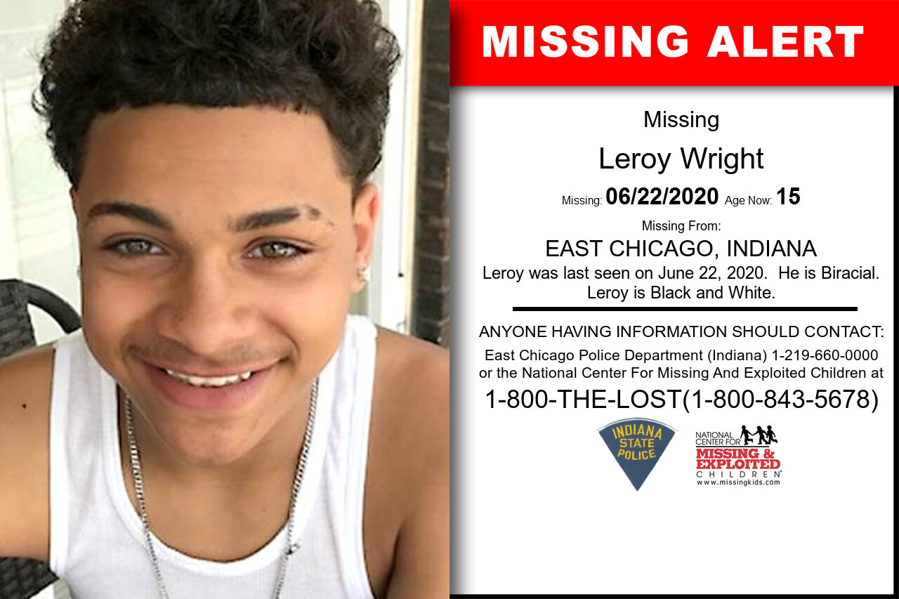 Leroy_Wright missing in Indiana