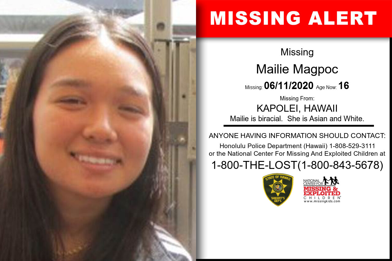 Maile_Magpoc missing in Hawaii