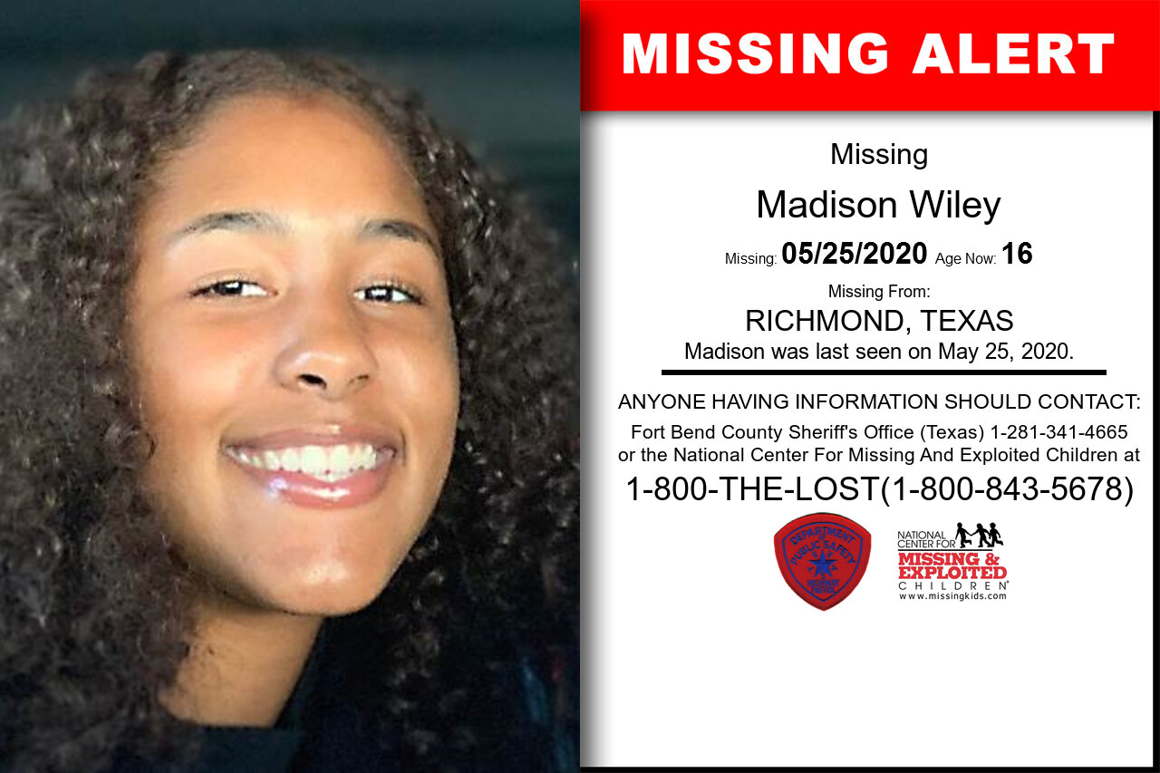 Madison_Wiley missing in Texas