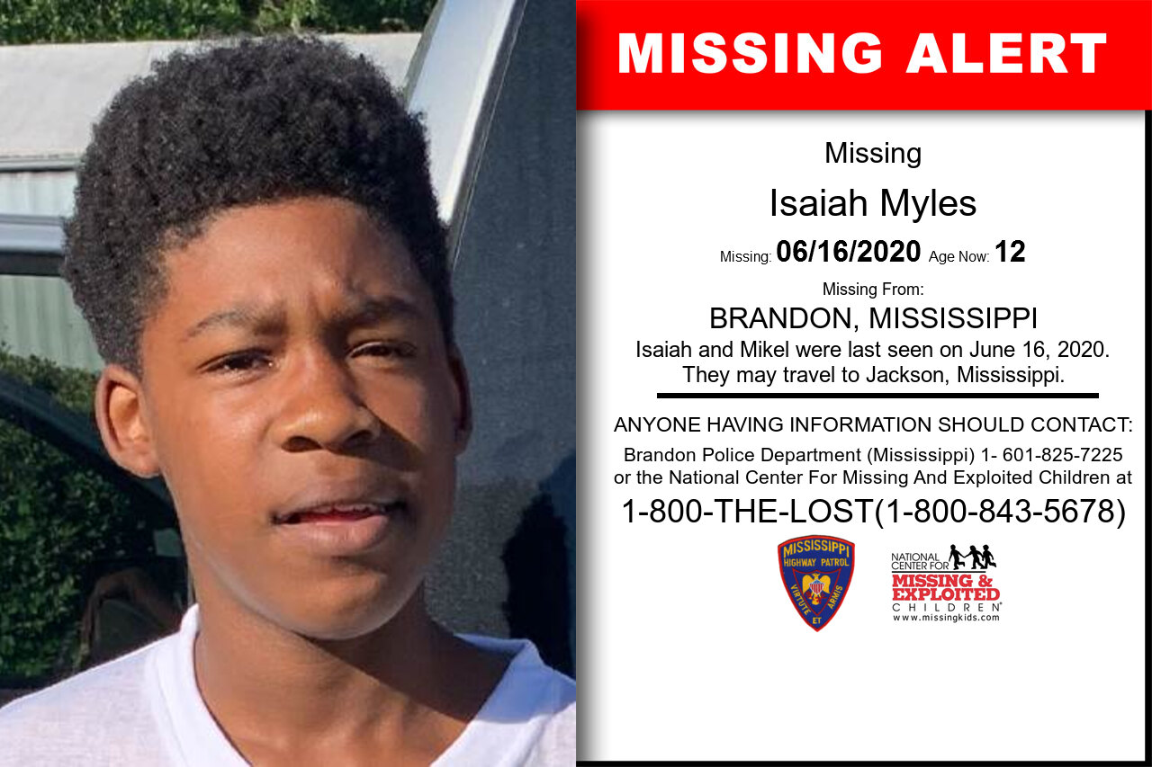 Isaiah_Myles missing in Mississippi