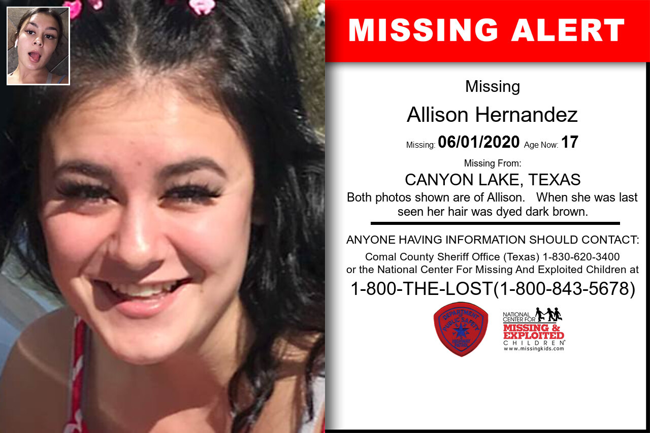 Allison_Hernandez missing in Texas