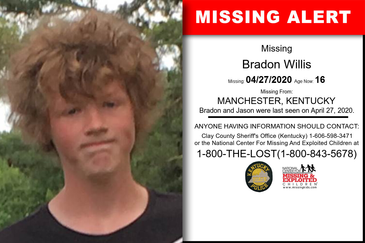 Bradon_Willis missing in Kentucky